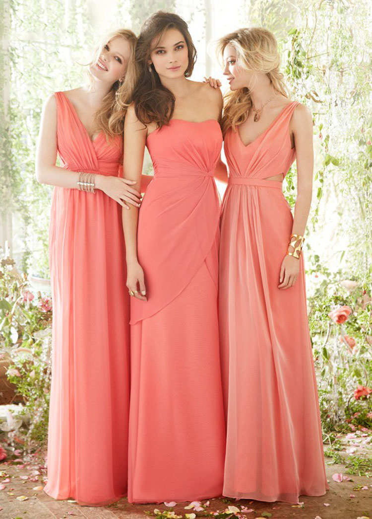 Plus Size Bridesmaid Dress For Girls Coral Dress Vestidos De Festa ...