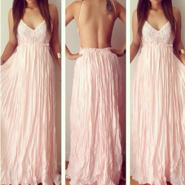 b5c8a474b0c7 Blush Sexy Long Backless Prom Dresses 2015 Beach Women Summer Dress to  Party dresses Vestido De Festa Longo abendkleider LF1683